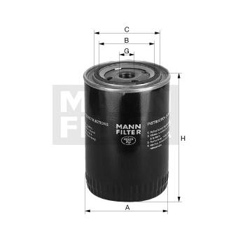 Mann Filter W1020 filtro de aceite