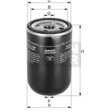 Filtro de combustible hombre-filtro WK 13 001