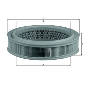 knecht LX 157/Filtro de Aire